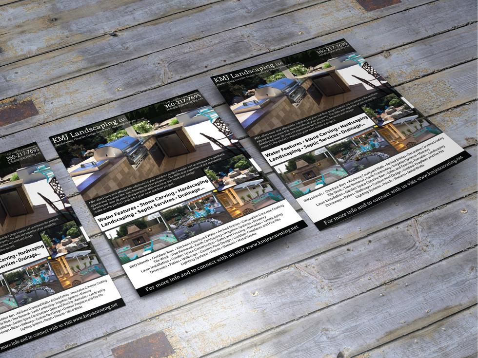 Sales Sheet Design for KMJ Excavation