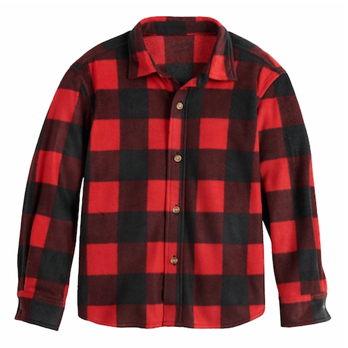 Long-Sleeve Shirt Red & Black