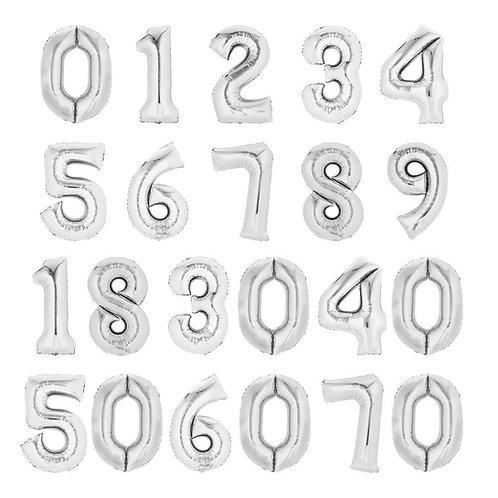 Zahlenballon | Silber | Anagram XL | Mit oder ohne Helium