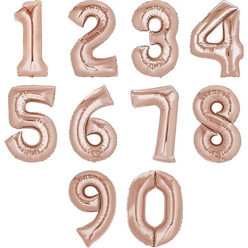 Zahlenballon | Rosé Gold | Anagram XL | Mit oder ohne Helium