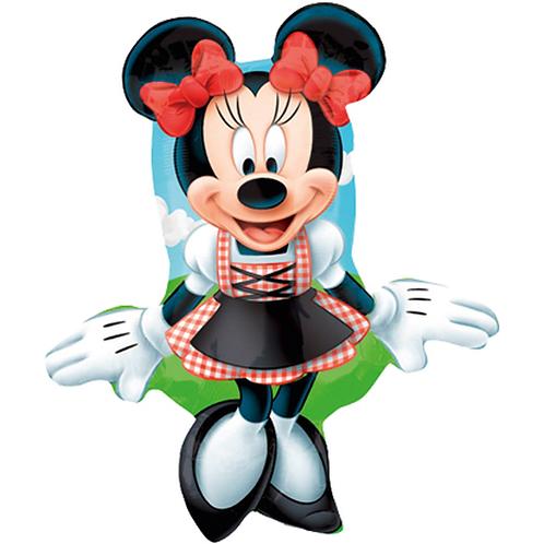 Minnie Maus mit Dirndl | Anagram Street Treats | Mit oder ohne Helium