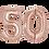 Thumbnail: Zahlenballon | Rosé Gold | Anagram XL | Mit oder ohne Helium