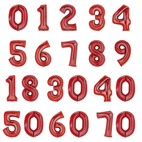 Zahlenballon   Rot   Anagram XL   Mit oder ohne Helium