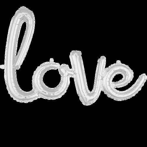 "Schriftzug ""love"" Silber   Anagram Air-Filled Decoration"