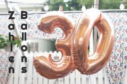 Kollektion Zahlenballons