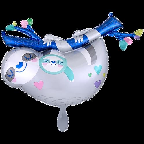 Faultier mit Baby   Anagram XL   Mit oder ohne Helium