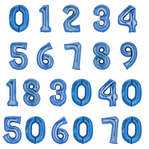 Zahlenballon | Blau | Anagram XL | Mit oder ohne Helium