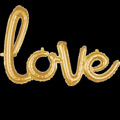 "Schriftzug ""love"" Gold | Anagram Air-Filled Decoration"