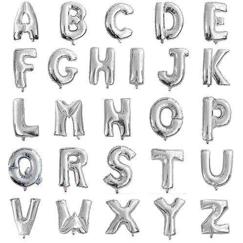 Buchstabenballon | Silber | Anagram XL | Mit oder ohne Helium