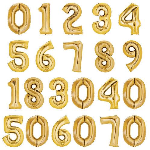 Zahlenballon | Gold | Anagram XL | Mit oder ohne Helium