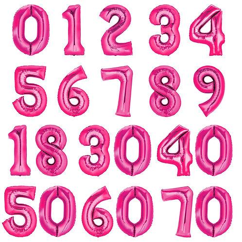 Zahlenballon | Pink | Anagram XL | Mit oder ohne Helium