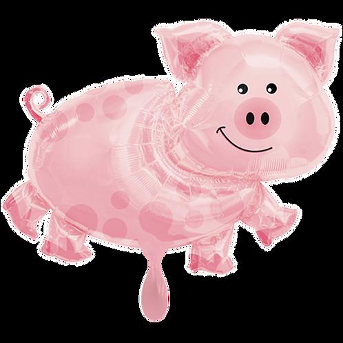Glückliches Schwein | Anagram XL | Mit oder ohne Helium