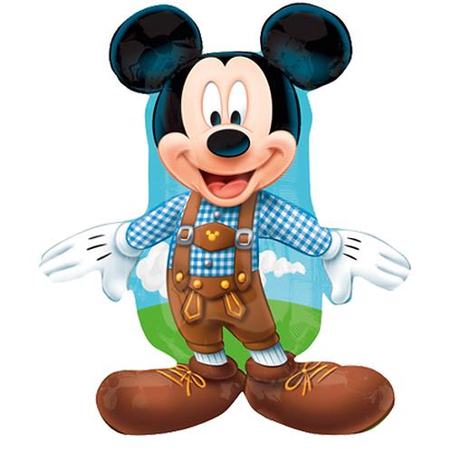 Micky Maus mit Lederhose | Anagram Street Treats | Mit oder ohne Helium