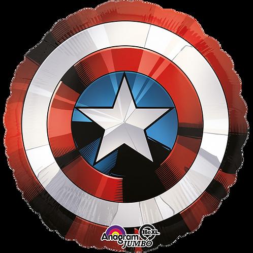 Schild Captain America | Anagram XL | Mit oder ohne Helium