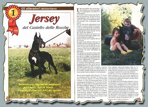 """Rivista """"MON AMI"""" Ottobre 2000 - """"gli allevatori raccontano"""" Ch. Jersey Del Castello Delle Rocche"""