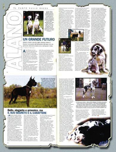 """Rivista """"CANI"""" Dicembre 2000 - """"Intervista ad allevatori"""" tutti i soggetti ritratti nelle foto sono """"Del Castello Delle Rocche"""""""