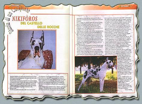 """Rivista """"MON AMI"""" anno V n.6/ 2002 - """"Storia di un Campione"""" Ch. Mondiale Nikiforos Del Castello Delle Rocche"""