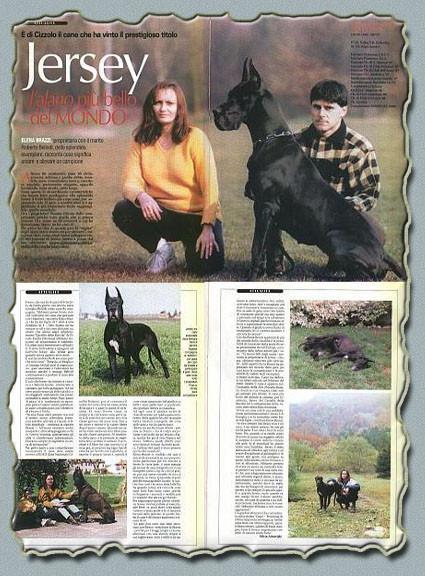 """Rivista """"NOI"""" Settembre 2000 Ch. Jersey Del Castello Delle Rocche"""