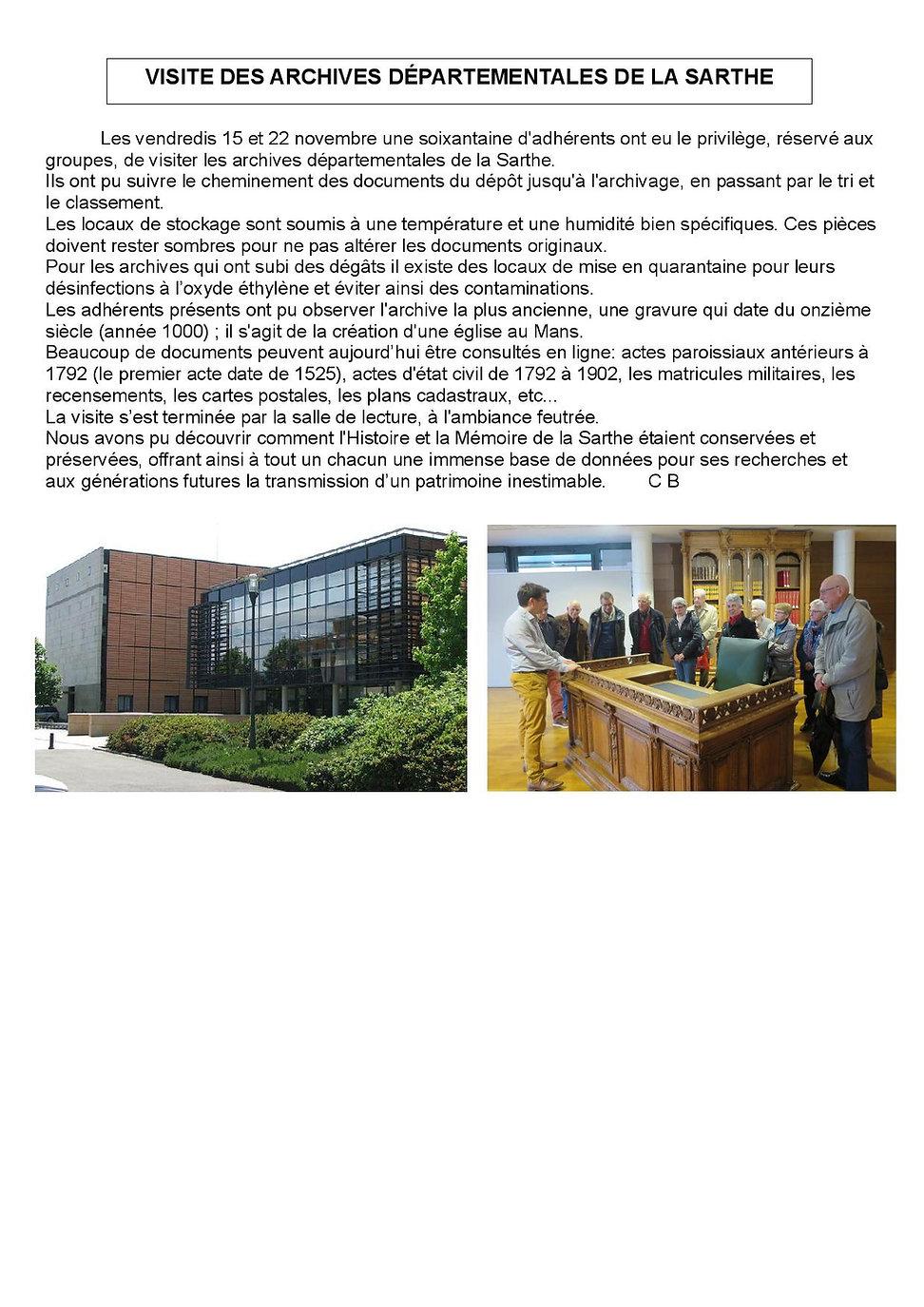 2019 Visite Archives départ  11 2019-pag
