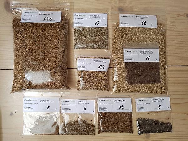 Looduslike taimeliikide seemned