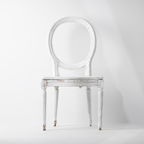 c-24v   Antique White Classic Wood Chair