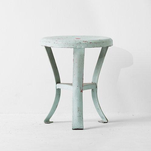 s-19v | Vintage Kids Steel Stool Lime