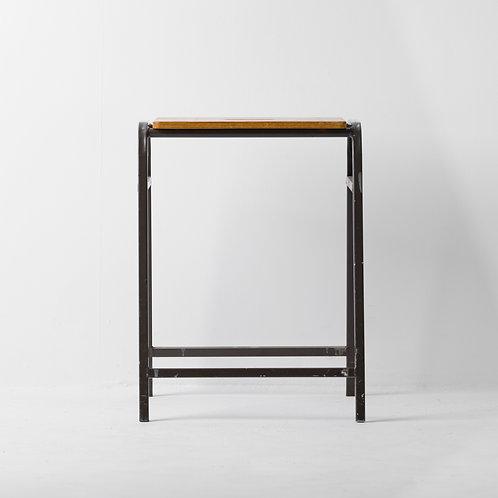 s-11v | Vintage Steel Wood Stool
