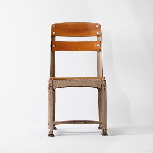 c-31v | Vintage Kids School Chair Steel S