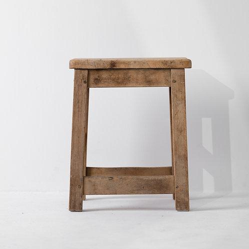 s-5v | Antique Wood Foot Stool