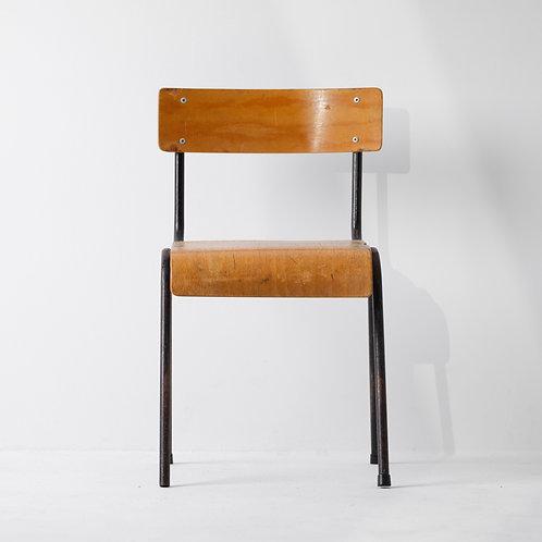 c-25v | Vintage Kids School Chair Steel