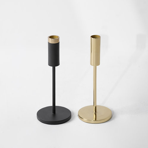 o-26s | Candle Stand Black / Brass