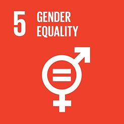 SDG 5 Gender Equality sign