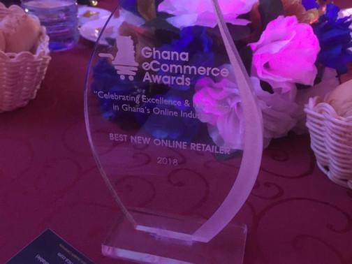 """GHANA MAIDEN E-COMMERCE AWARDS: OTI RECEIVES """"BEST NEW ONLINE RETAILER OF THE YEAR 2018"""" AWARD"""