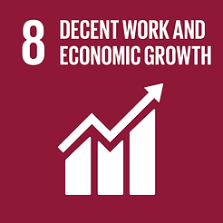 SGD 8 Decent work and economic growth sign
