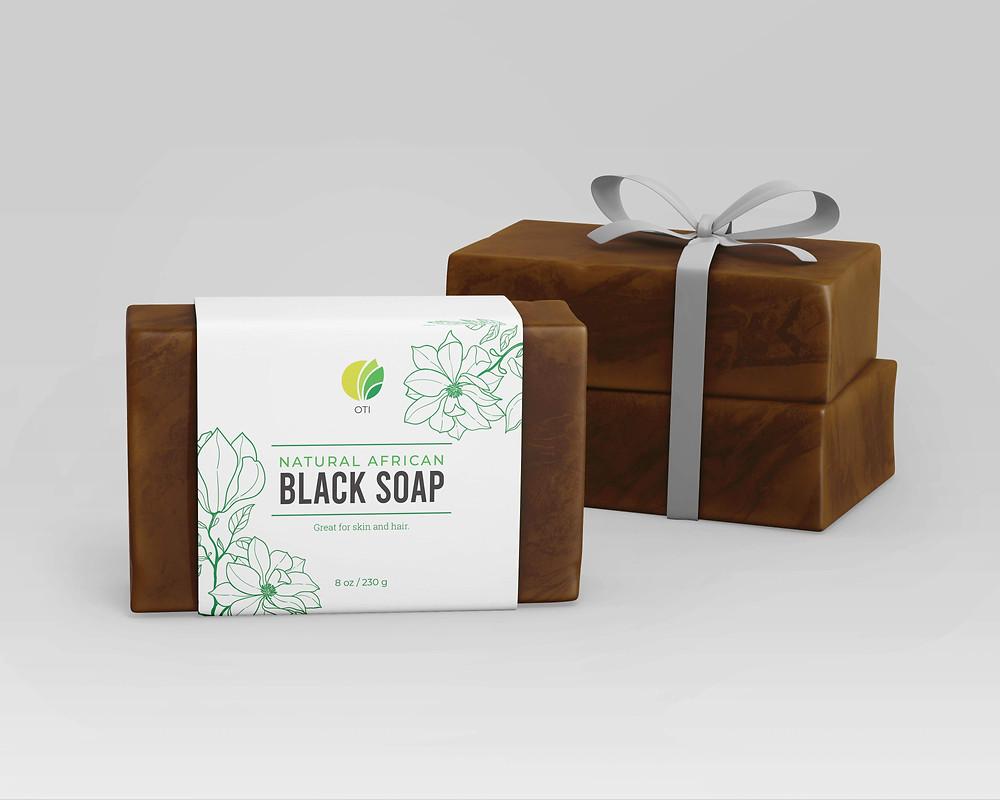 OTI African Black Soap - Shea Butter