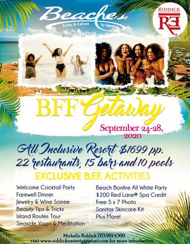 BFF Getaway Flyer