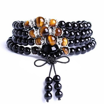 Black Onyx with Tiger's Eye Bracelet