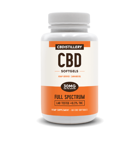 Full Spectrum CBD Softgel Capsules – 30mg – 60 Count