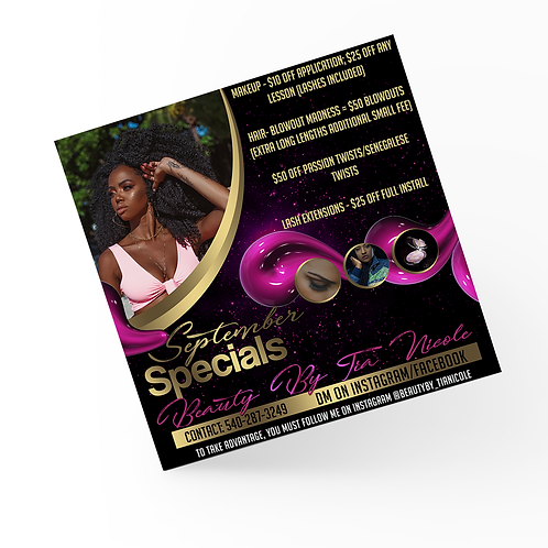 Customized Social Media Flyer