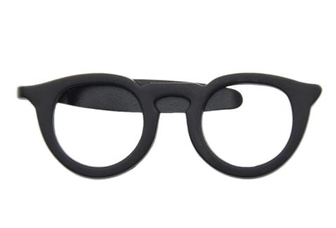 Glasses-Shaped Tie Clip