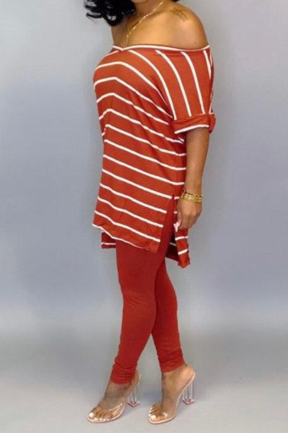 Stripe Top and Leggings Set