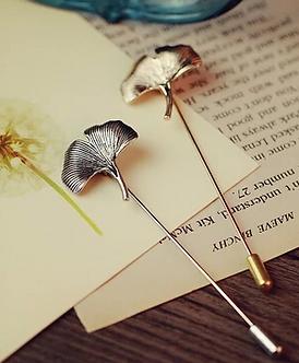 Biloba Leaf Lapel Pin
