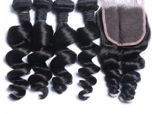 Spiral Curl (4) Bundles With Closure