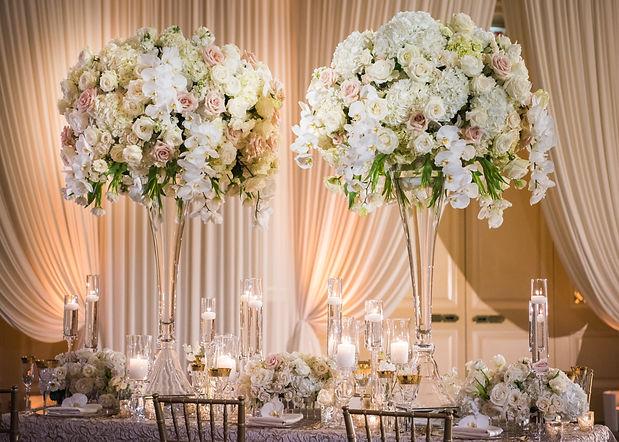 Romantic Wedding Table Top Layout Decor