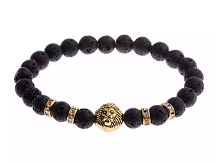 Lion head Medallion Bracelet