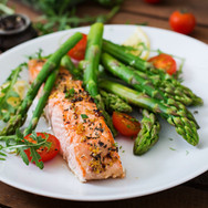 baked-salmon-garnished-with-asparagus-an