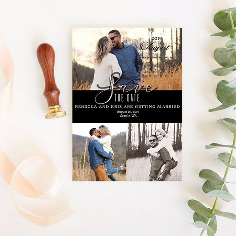 Save the date designed by Niray with cal