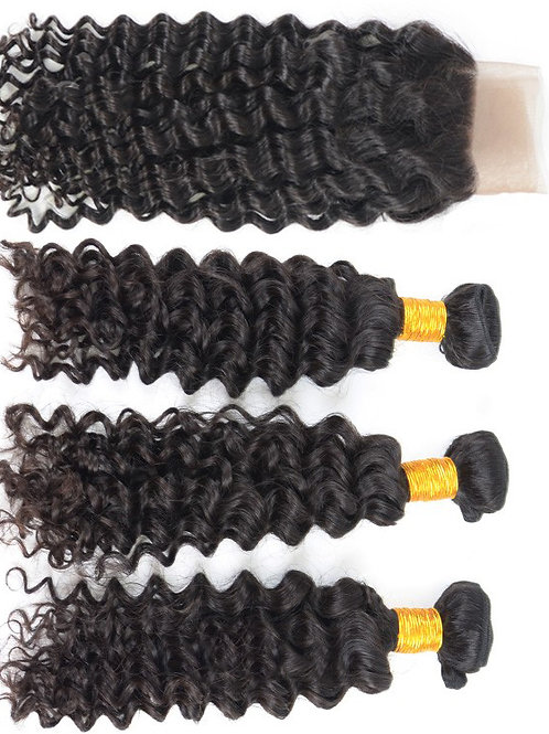 Deep and Wet Hair (3) Bundles With Frontal