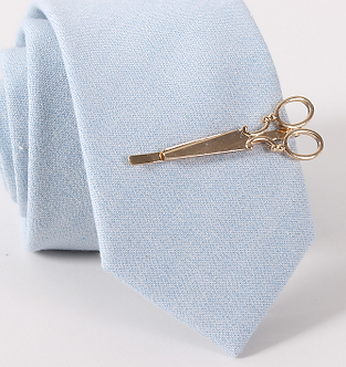 Scissor-Shaped Tie Clip