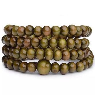 Vintage 6mm 108 Beads Natural Sandalwood Buddha/Mala Wood Bracelets